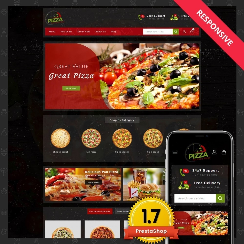 theme - Food & Restaurant - Pizza Store - 1