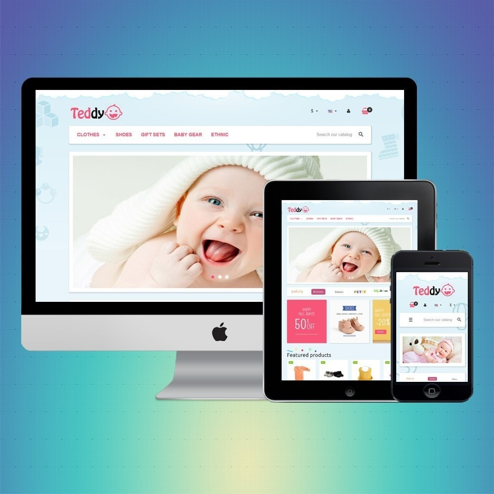 theme - Zabawki & Artykuły dziecięce - VP_Teddy Store - 1