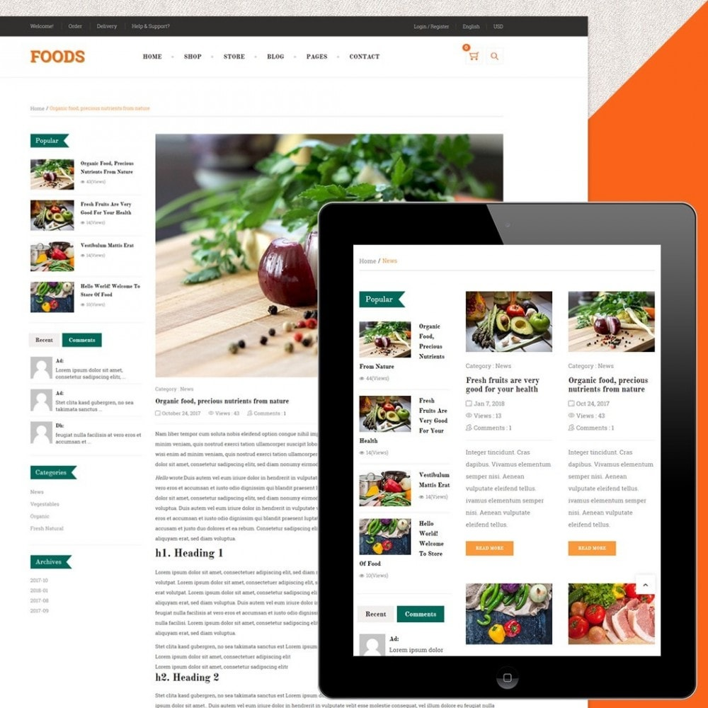 theme - Продовольствие и рестораны - Food Shop - 5