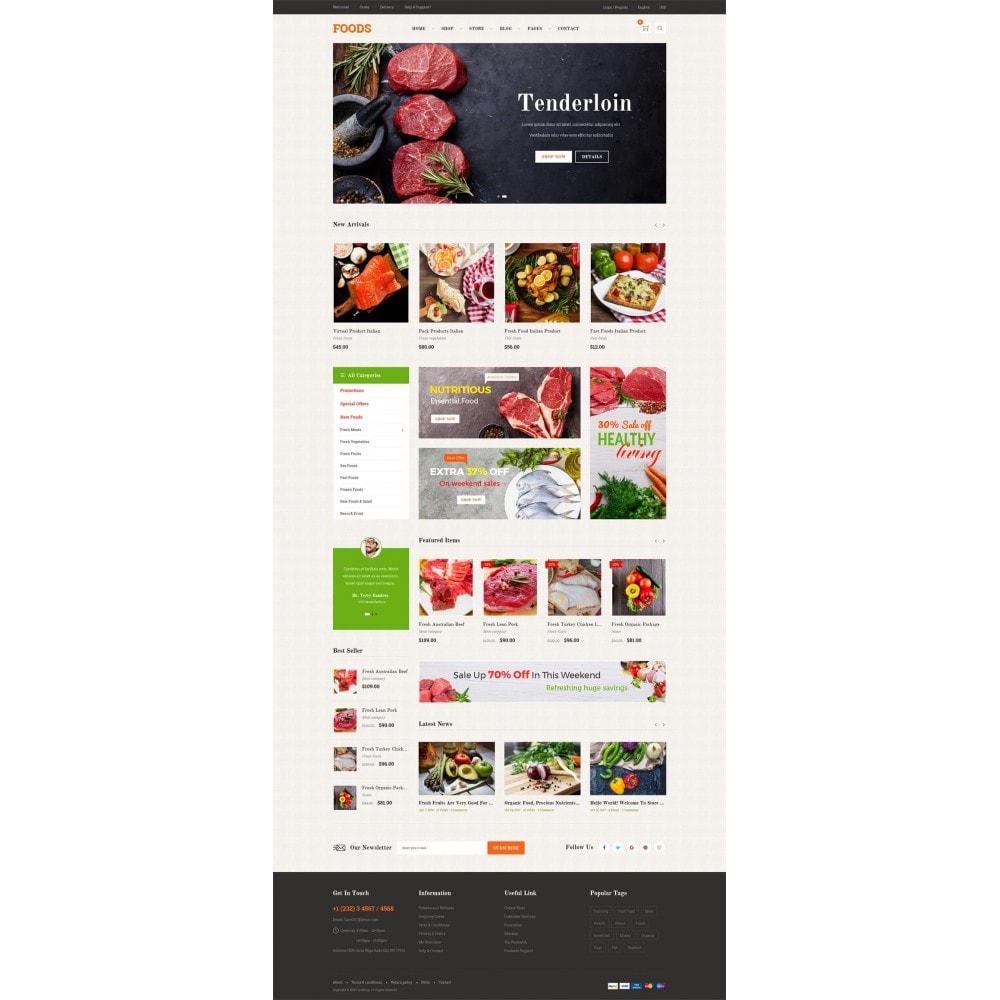 theme - Alimentos & Restaurantes - Food Shop - 7