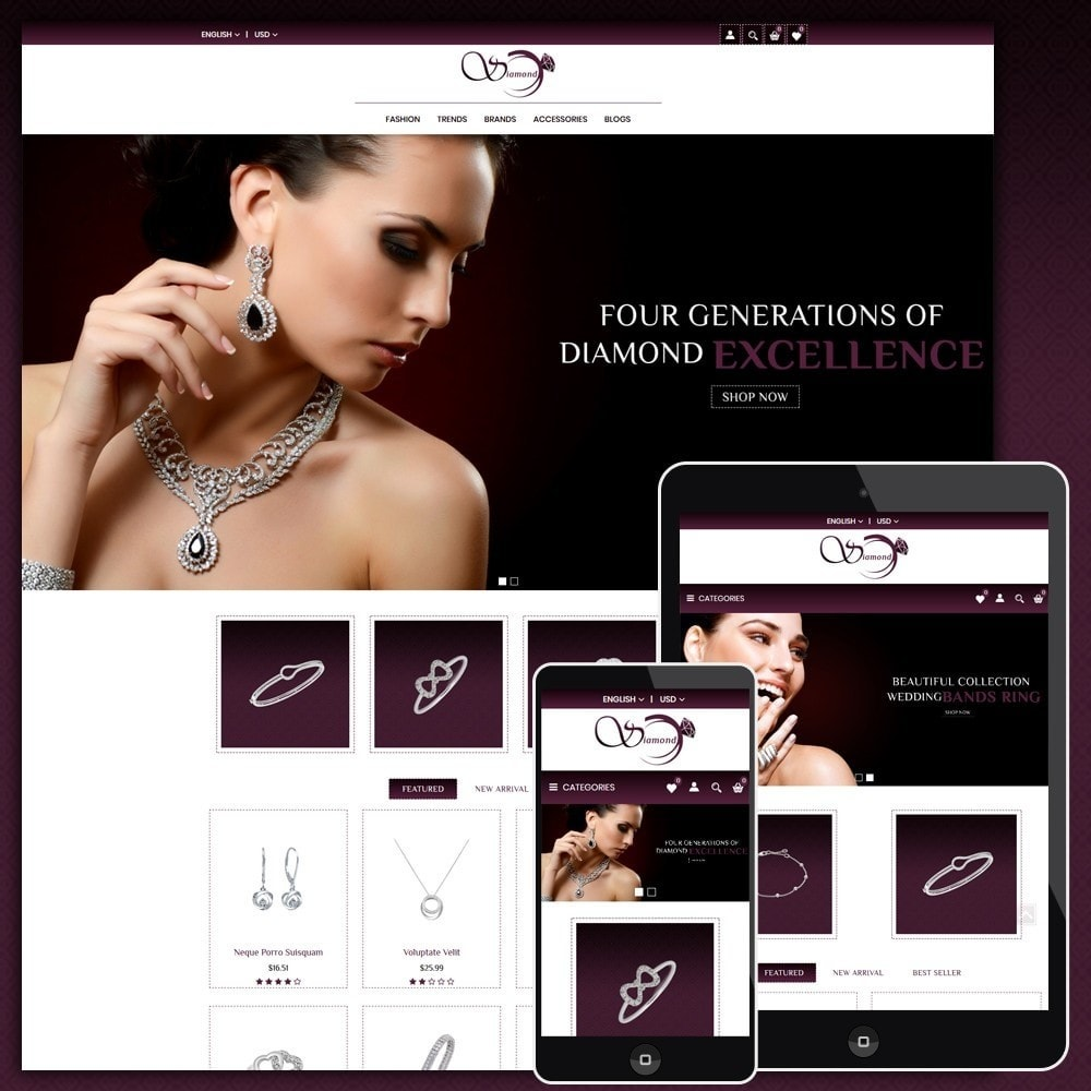 theme - Sieraden & Accessoires - Diamond Jewellery Shop - 1