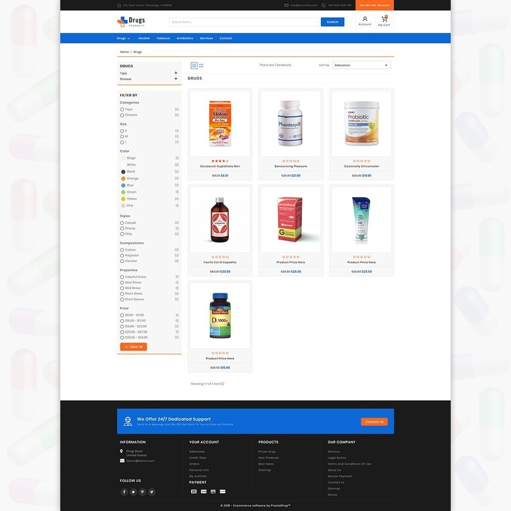 theme - PrestaShop Templates - DrugStore - 3