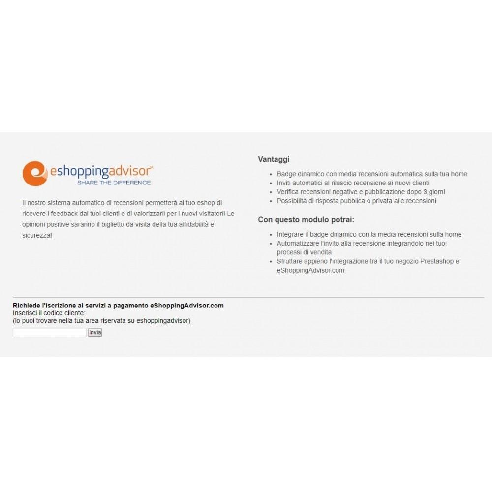 module - SEO (Indicizzazione naturale) - Modulo recensioni certificate eShoppingAdvisor.com - 1