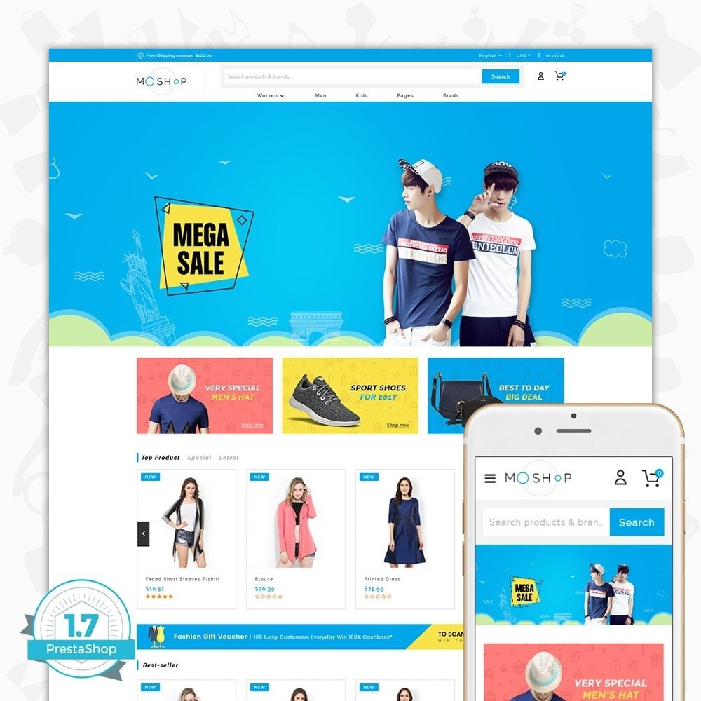 theme - Moda & Calzature - MOShop -  The Fashion Store - 1