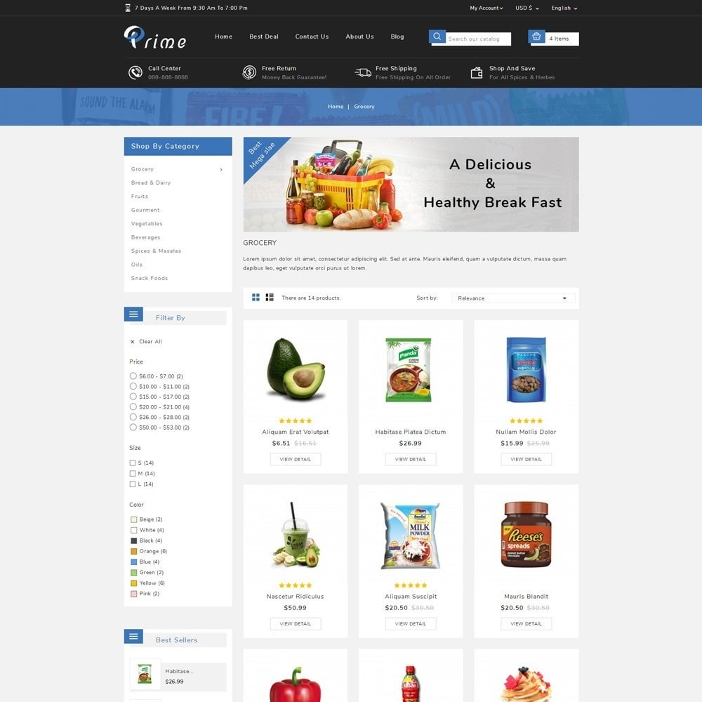 theme - Food & Restaurant - Prime Grocery Store - 3