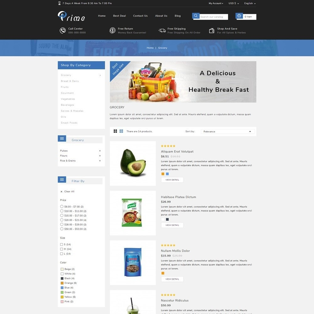 theme - Food & Restaurant - Prime Grocery Store - 4