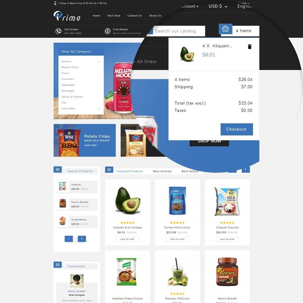 theme - Food & Restaurant - Prime Grocery Store - 8