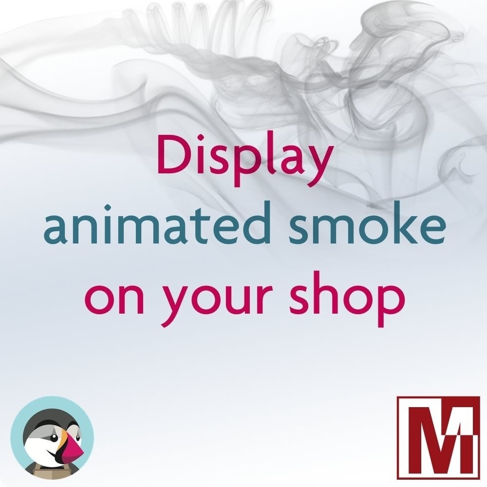 module - Personalização de página - Animation of volutes of smoke on your shop - 1
