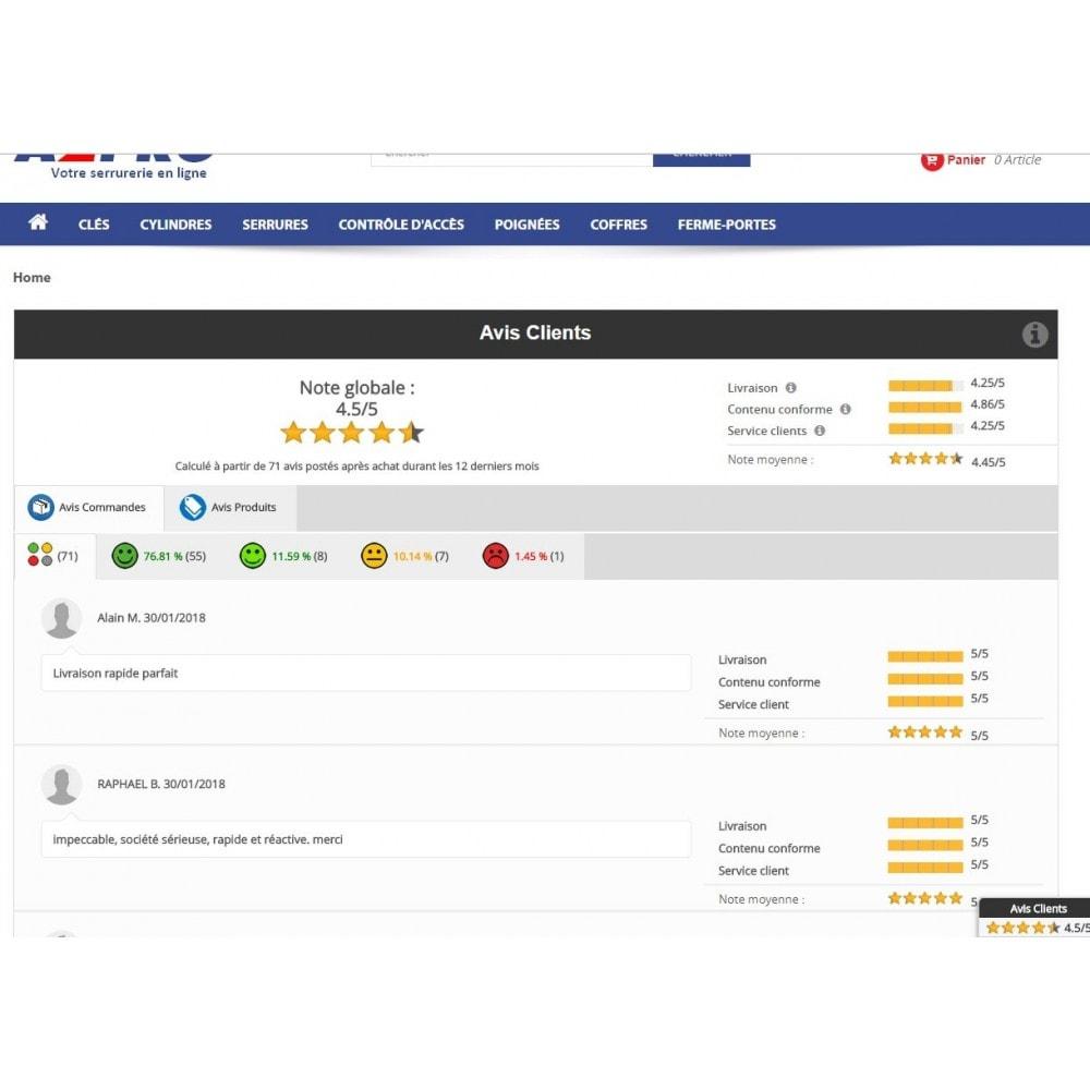 module - Avis clients - Avis Clients Avancé - 1
