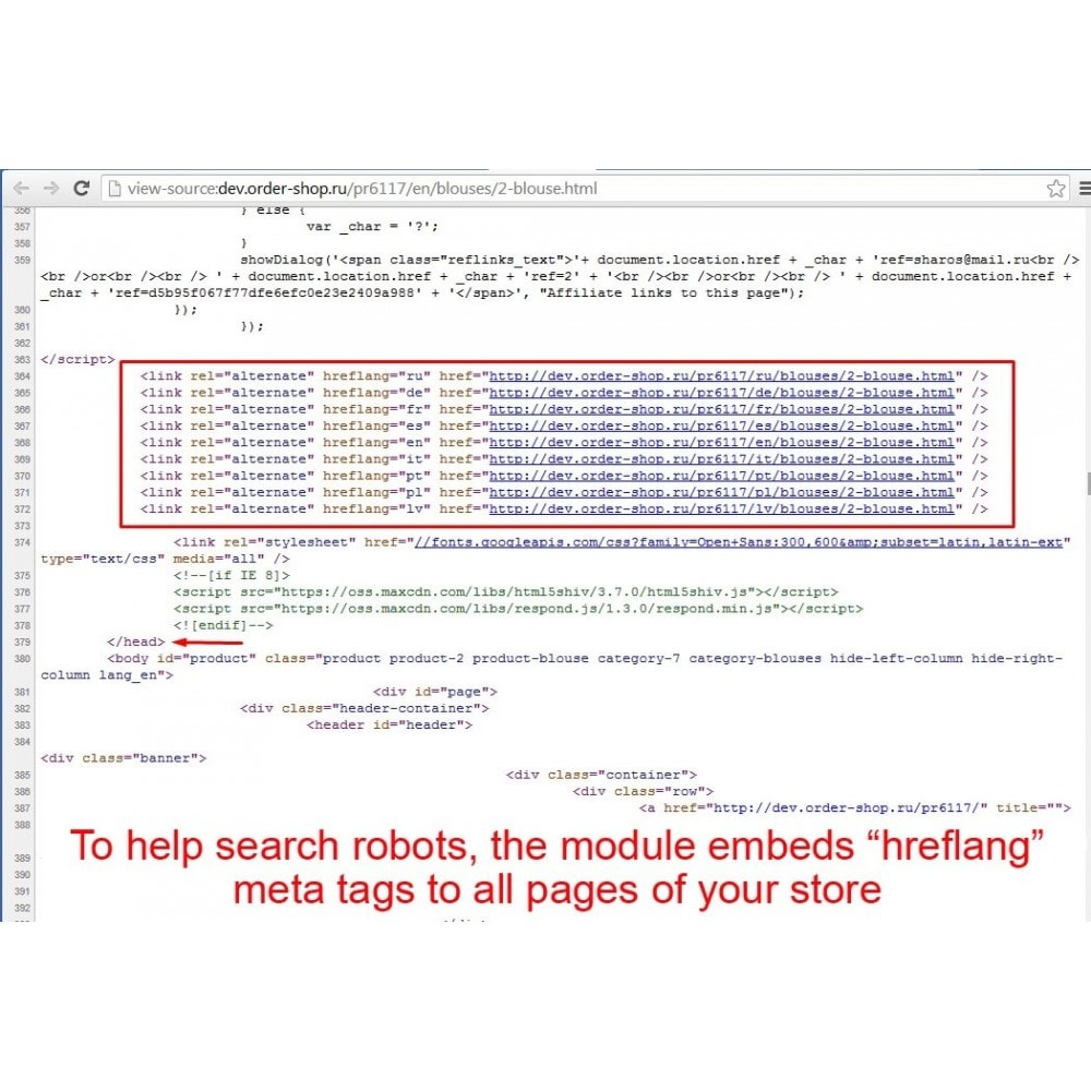 module - SEO (Indicizzazione naturale) - HrefLang Tag - 2