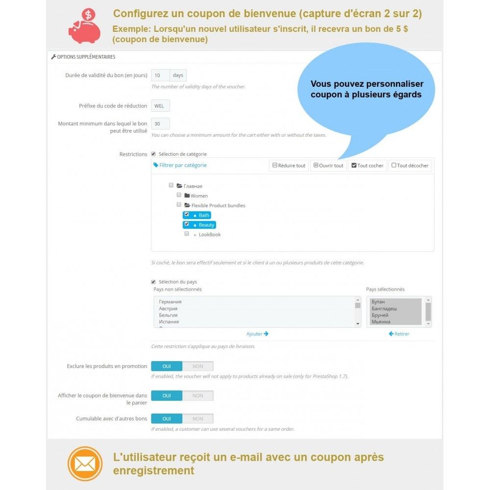 module - Bons de réduction sur les réseaux sociaux - Bon de réduction avancés et points de fidélité - 4
