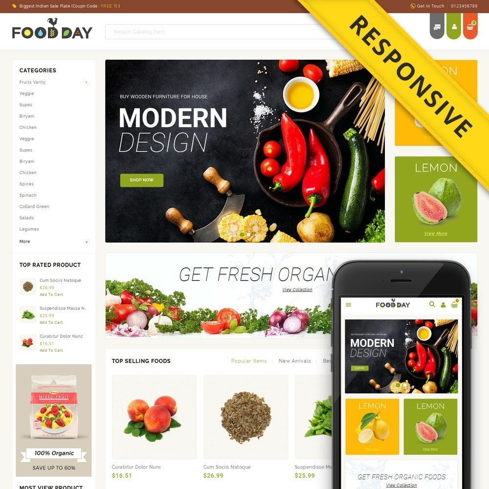 FoodDay - Food & Restaurant Store