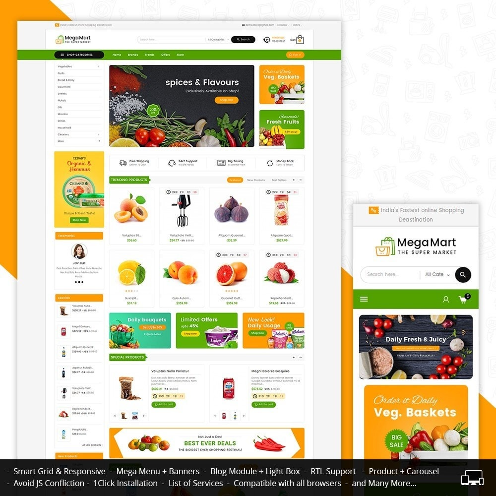 theme - Lebensmittel & Restaurants - Mega Mart Grocery - 1