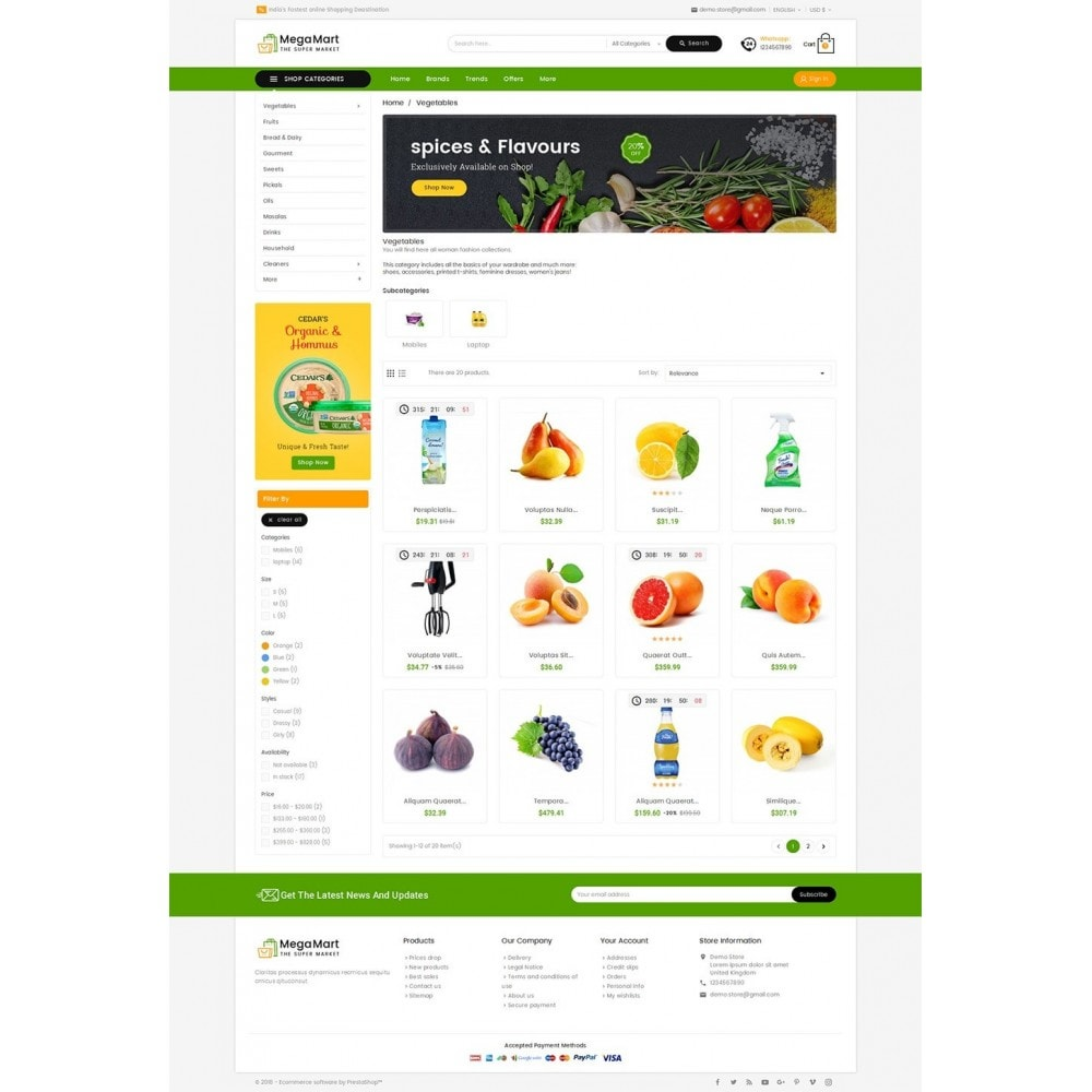 theme - Alimentos & Restaurantes - Mega Mart Grocery - 3