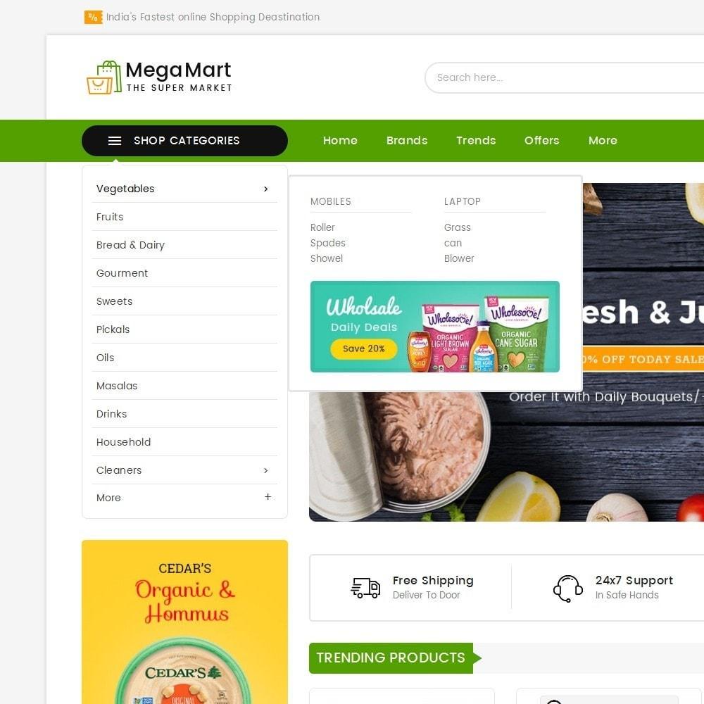 theme - Alimentos & Restaurantes - Mega Mart Grocery - 9
