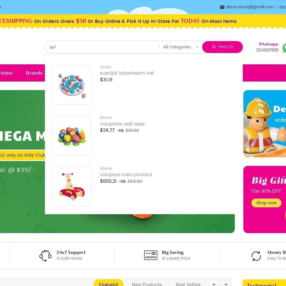 theme - Дети и Игрушки - Mega Mart Kids Toys - 10