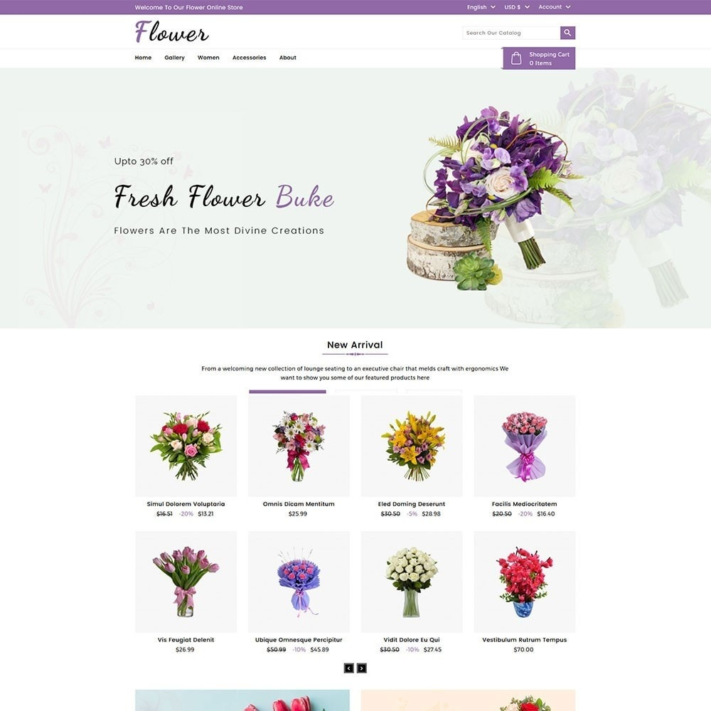 theme - Cadeaux, Fleurs et Fêtes - Flower Store - 2
