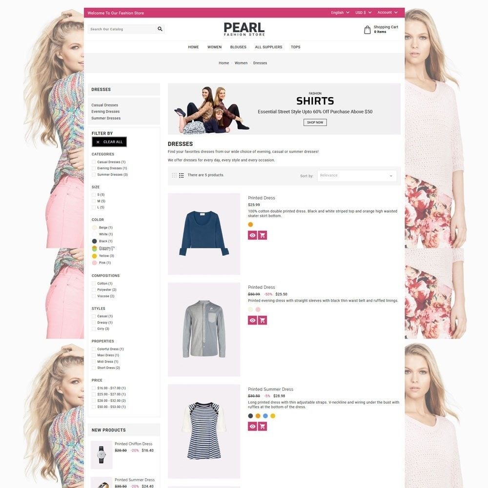 theme - Мода и обувь - Pearl Fashion - 5