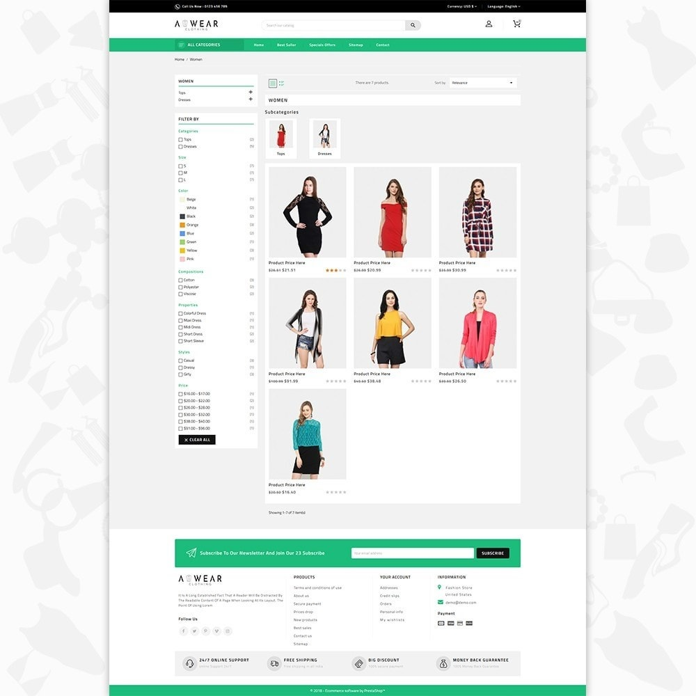 theme - Мода и обувь - Awear Clothing- The Fashion Store - 3