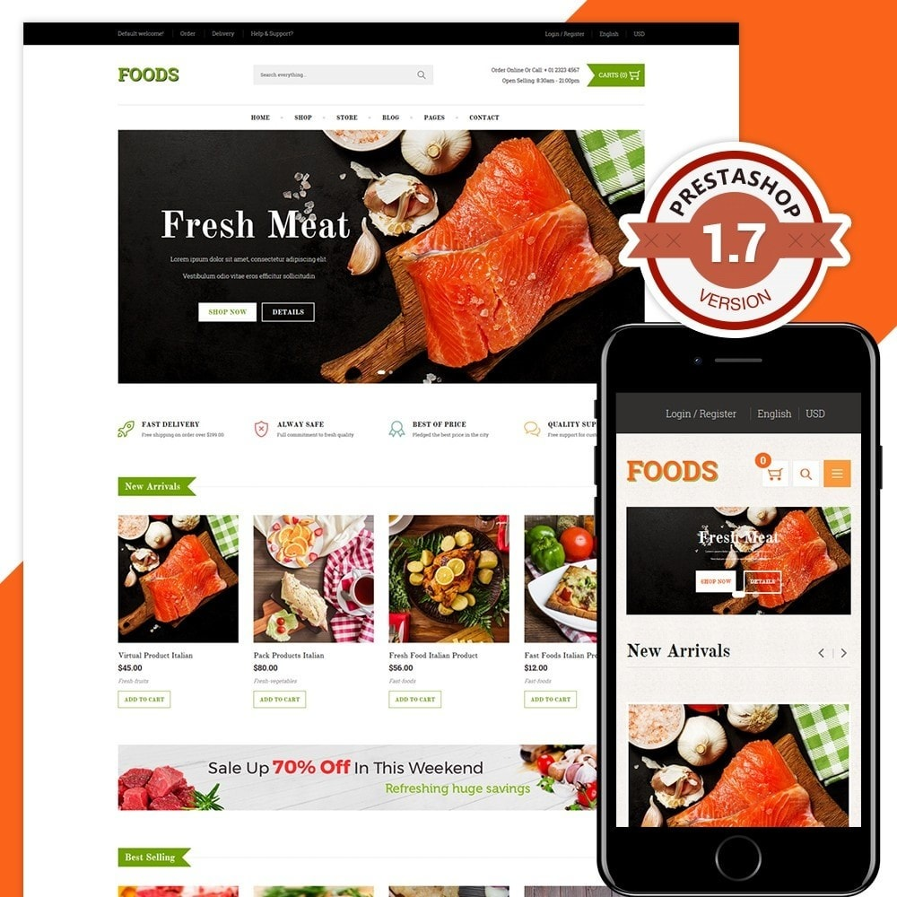 theme - Żywność & Restauracje - Food Shop II - 1