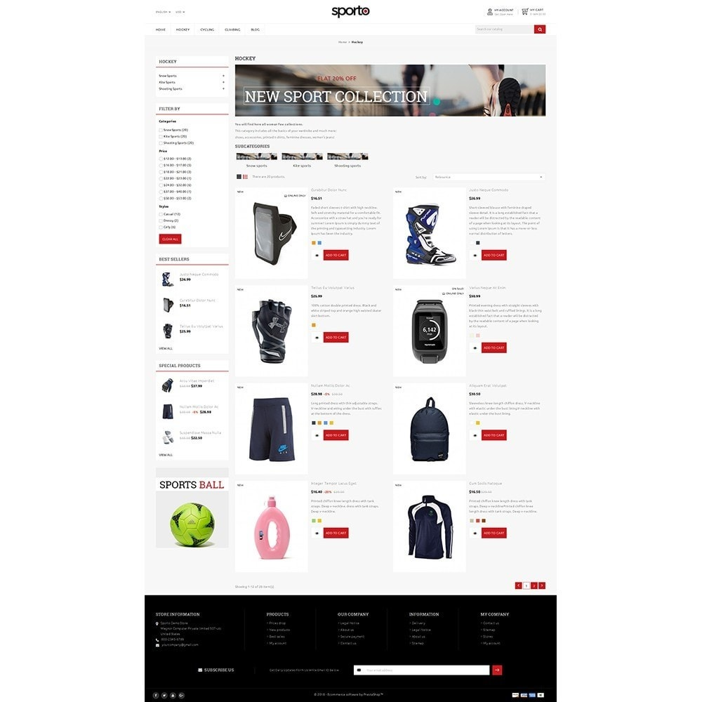 theme - Sports, Activities & Travel - Sporto Demo Store - 4