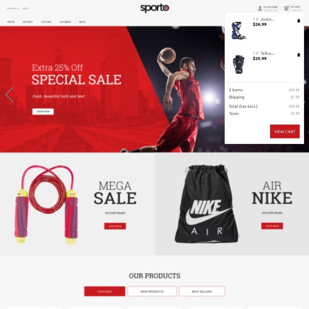 theme - Sports, Activities & Travel - Sporto Demo Store - 6
