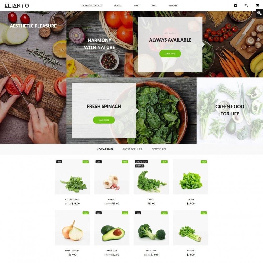 theme - Alimentos & Restaurantes - Elianto - 2