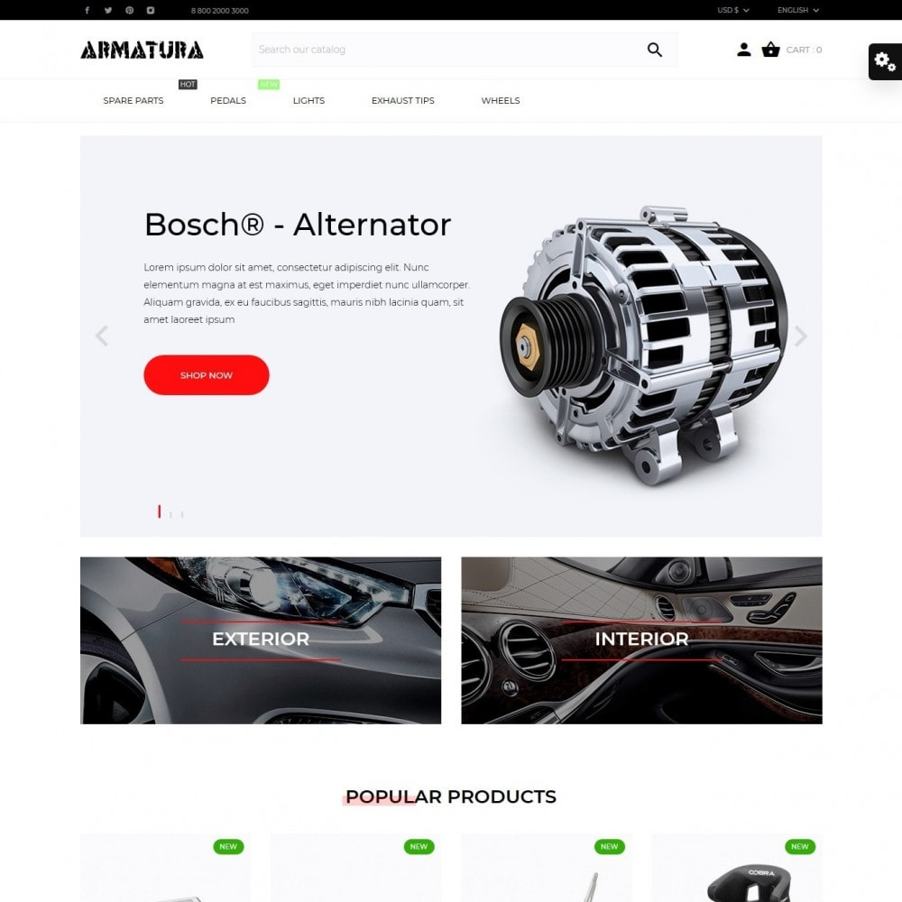 theme - Automotive & Cars - Armatura - 2