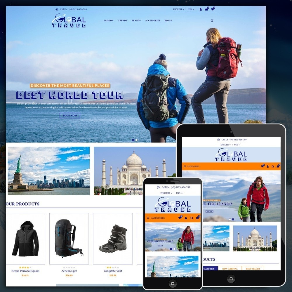 theme - Sports, Activities & Travel - Travel Store - 1