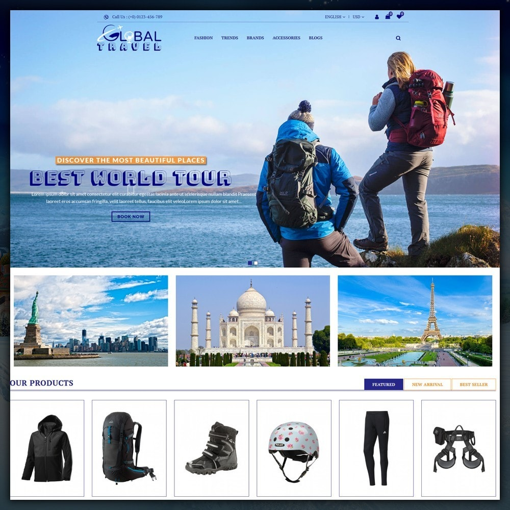 theme - Sport, Loisirs & Voyage - Travel Store - 2