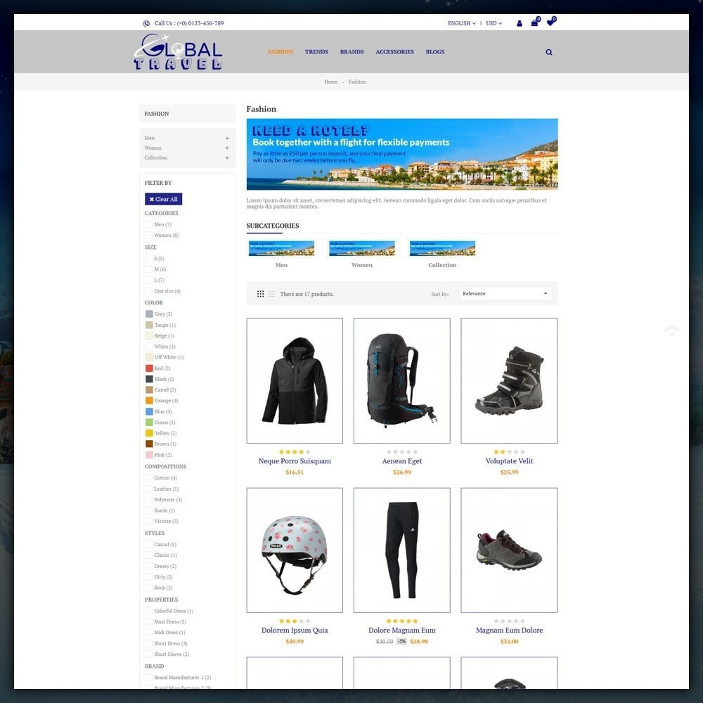 theme - Sport, Loisirs & Voyage - Travel Store - 3