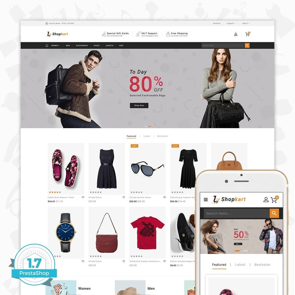 theme - Elektronica & High Tech - ShopKart - The Fashion Store - 1
