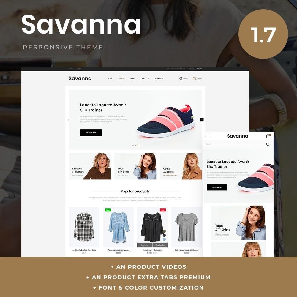 theme - Moda & Obuwie - Savanna Fashion Store - 1