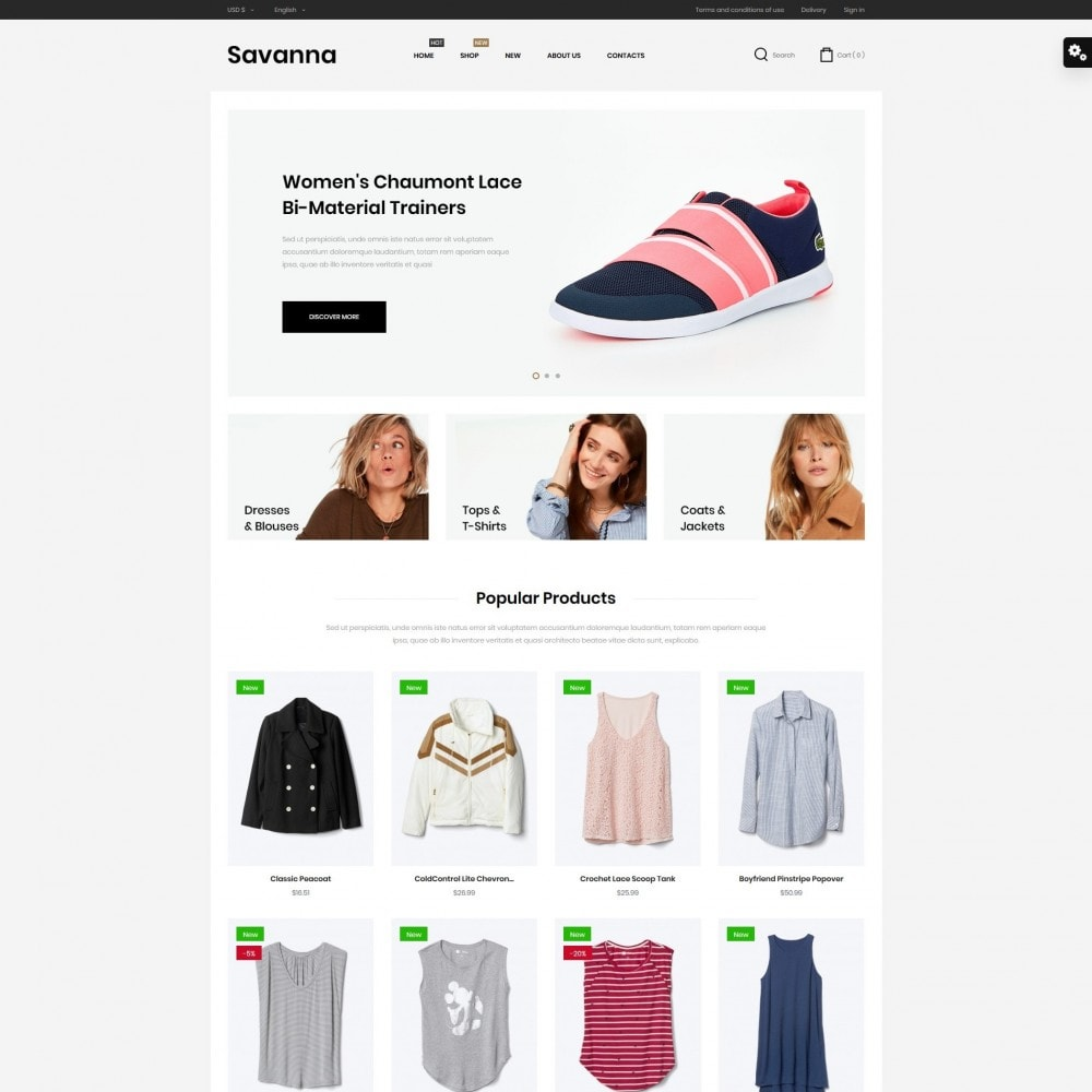 theme - Мода и обувь - Savanna Fashion Store - 2