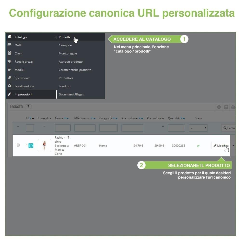 module - URL & Redirect - URL canonici per evitare duplicati contenuti - SEO - 10