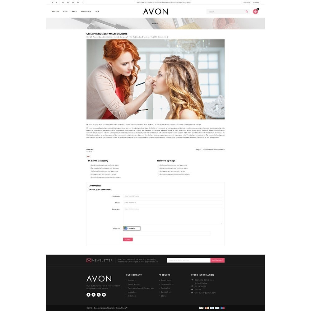 theme - Health & Beauty - AVON Cosmetic Store - 6