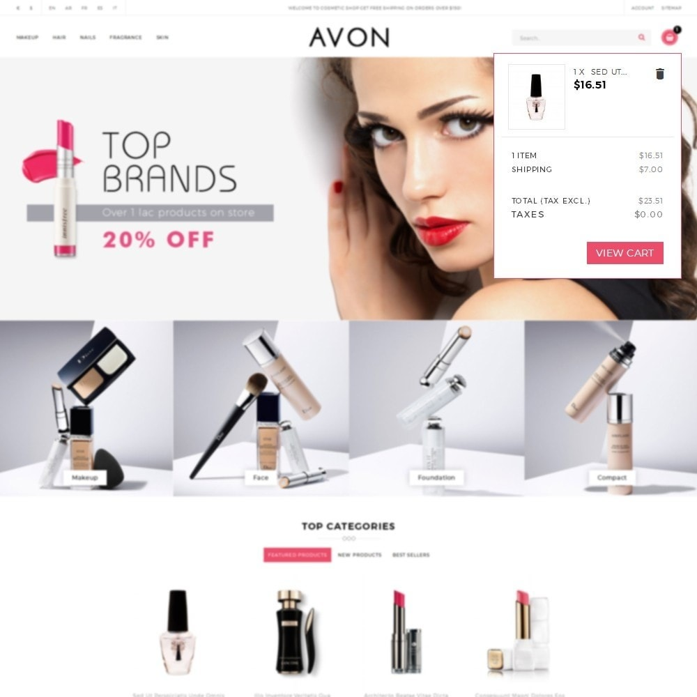 theme - Health & Beauty - AVON Cosmetic Store - 8