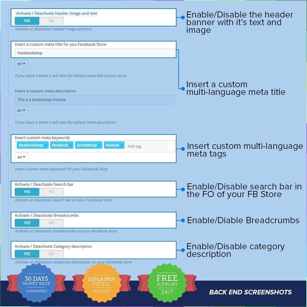 module - Produits sur Facebook & réseaux sociaux - Social Network Shop PRO - 6