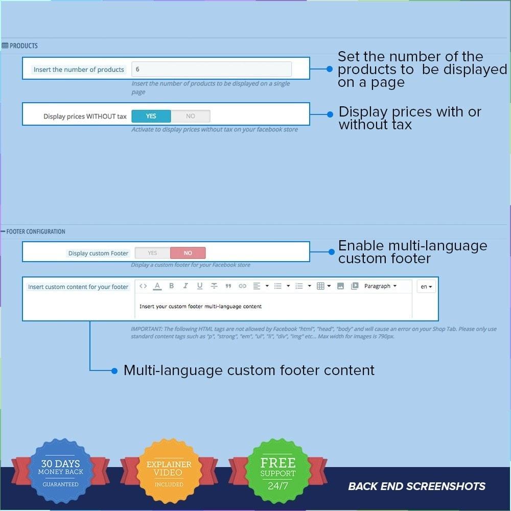 module - Prodotti sui Facebook & Social Network - Social Network Shop PRO - 12