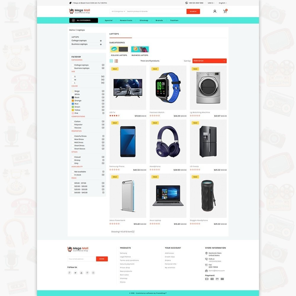 theme - Elettronica & High Tech - Megamall - The E-commerce Shop - 3