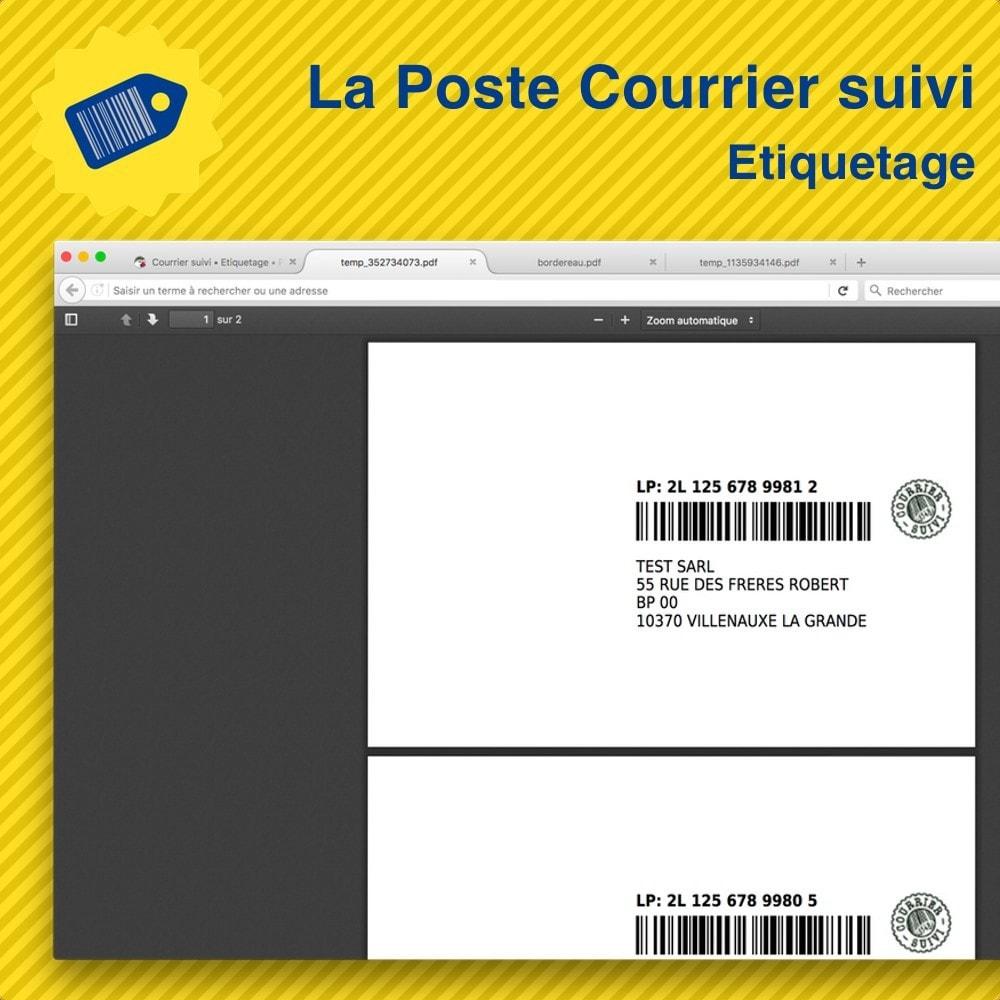 module - Préparation & Expédition - La Poste Courrier suivi • Etiquetage - 1