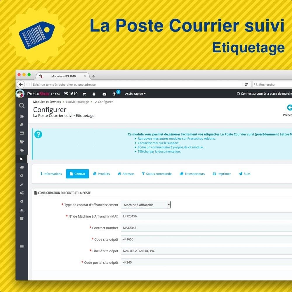 module - Preparación y Envíos - La Poste Courrier suivi • Etiquetage - 2