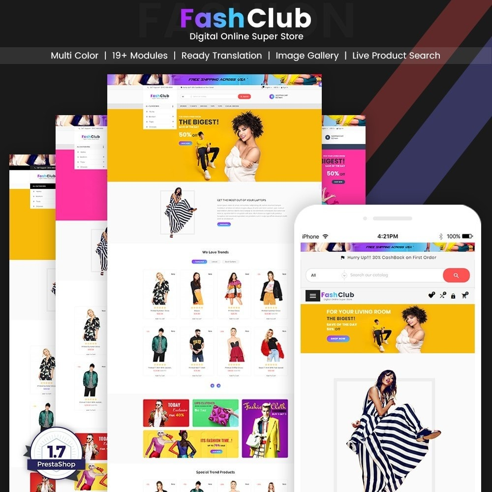 theme - Fashion & Shoes - FashClub – Sunday Fashion Digital Store v2 - 1