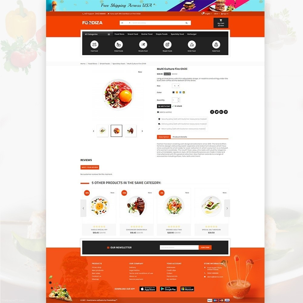 theme - Eten & Restaurant - Foodza – Fast Food Super Store - 4