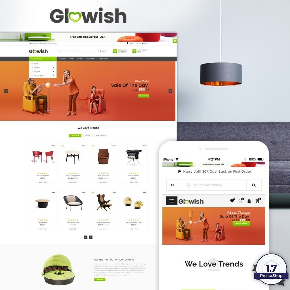 Glowish – Furniture Super Store v2