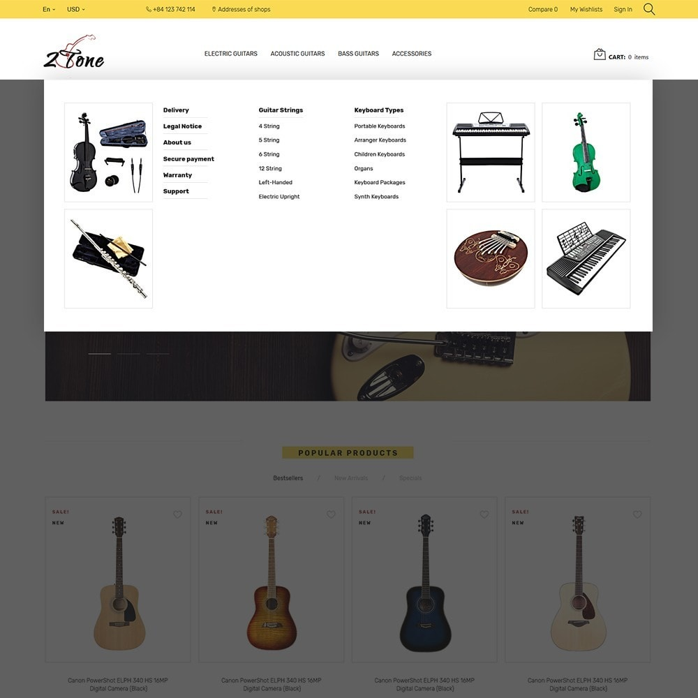 theme - Art & Culture - 2Tone - Guitar Store - 5