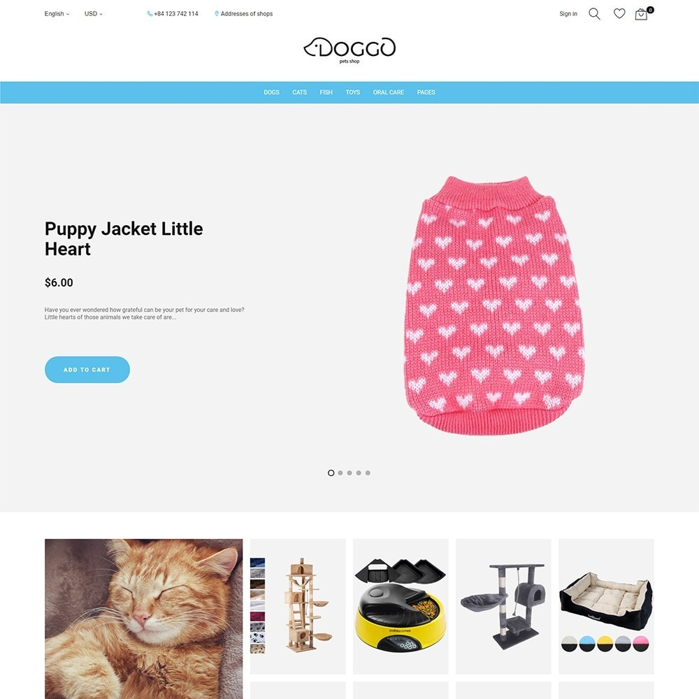 theme - Animais - Doggo - Pet Shop - 1