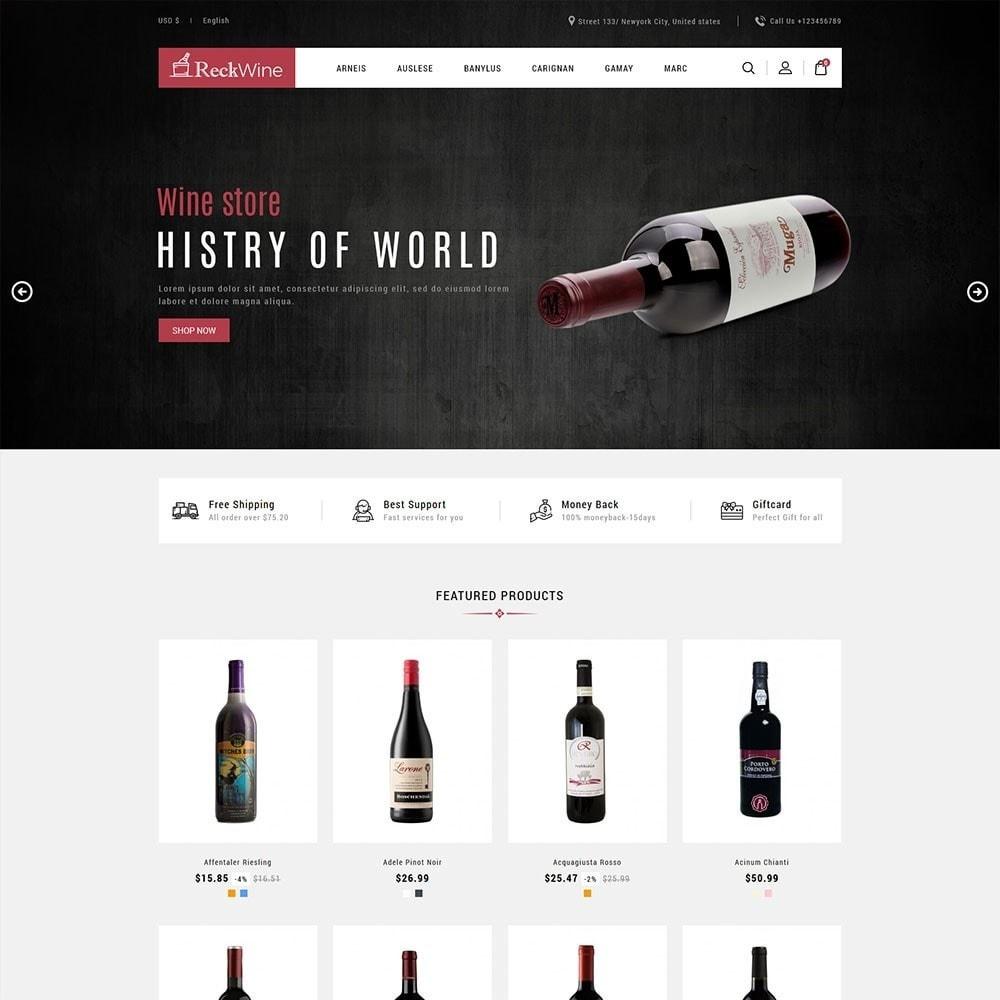 theme - Żywność & Restauracje - Recwine - Wine Store - 2