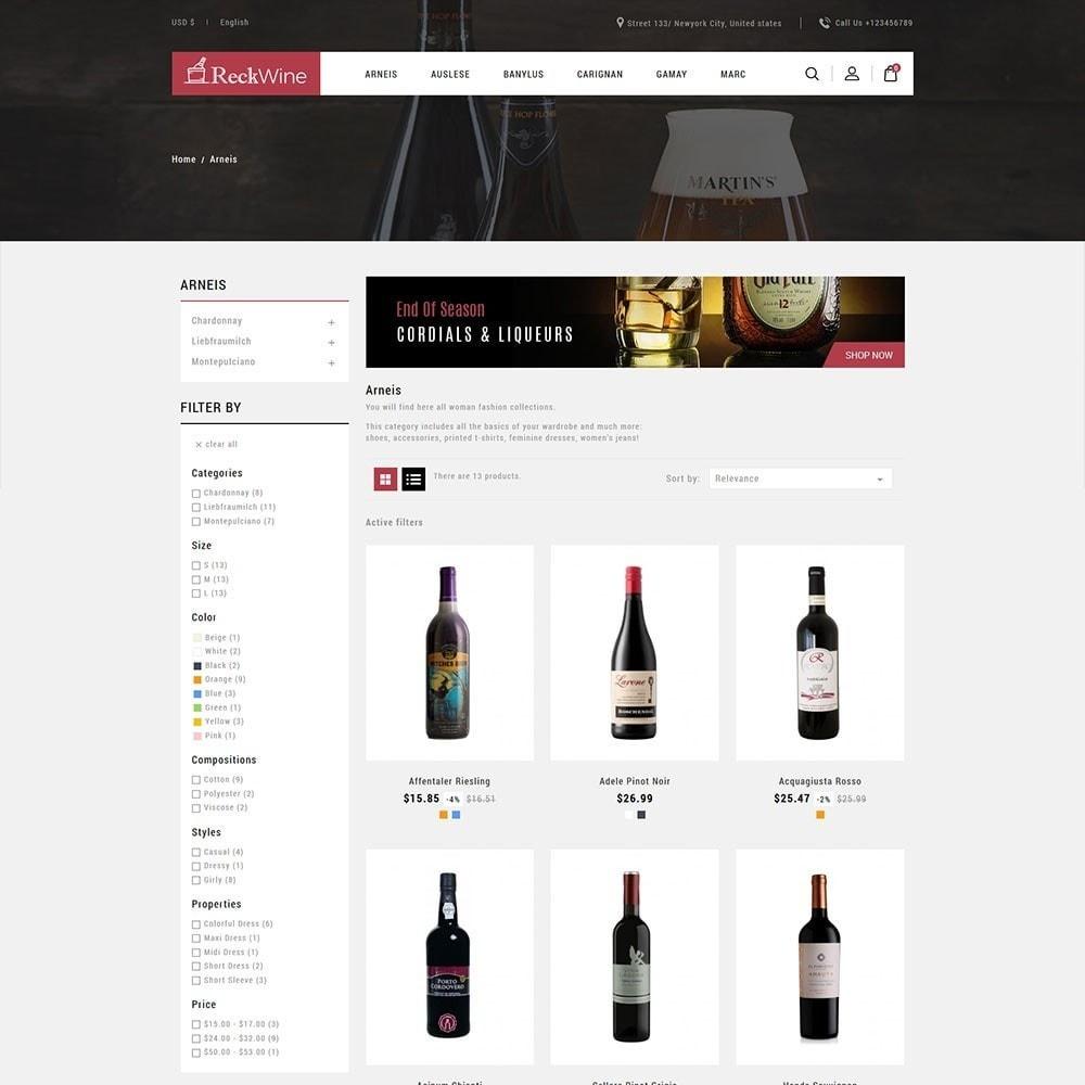 theme - Żywność & Restauracje - Recwine - Wine Store - 3