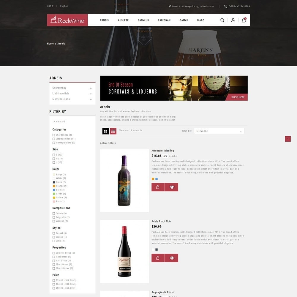 theme - Alimentation & Restauration - Recwine - Wine Store - 4